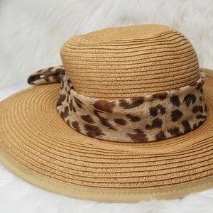 NEW PANAMA JACK ANIMAL PRINT RIBBON HAT